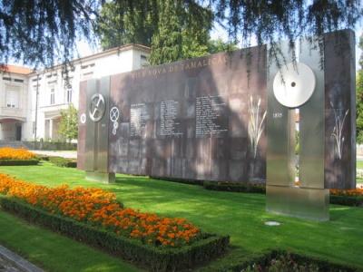Mural do jardim da Câmara de Famalicão