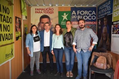 Jovens do Bloco com o candidato à Câmara José Luís Araújo