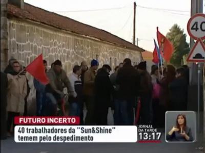 Trabalhadores despedidos pela Sun&Shine sem papéis para subsídio
